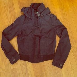 Navy Blue Bomber Jacket with Hood size S